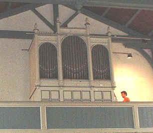 Blick zur Orgel in der Dorfkirche Rahnsdorf